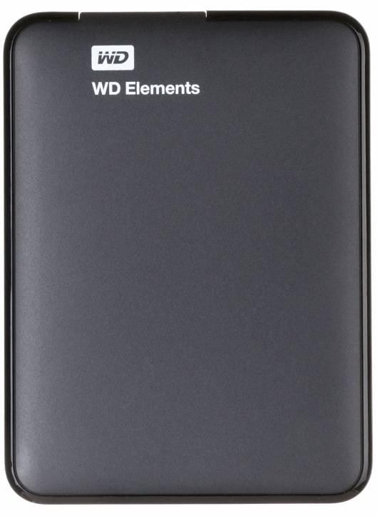Внешний жесткий диск 2Tb WD Elements Portable WDBU6Y0020BBK-WESN черный USB 3.0 - фото 1
