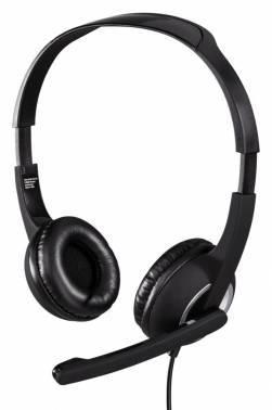 Наушники с микрофоном Hama Essential HS 300 черный / серебристый