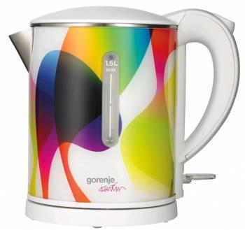 Чайник электрический Gorenje K15KARIM белый/рисунок