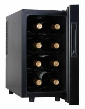Винный шкаф Shivaki SHW-08V1 черный / стекло