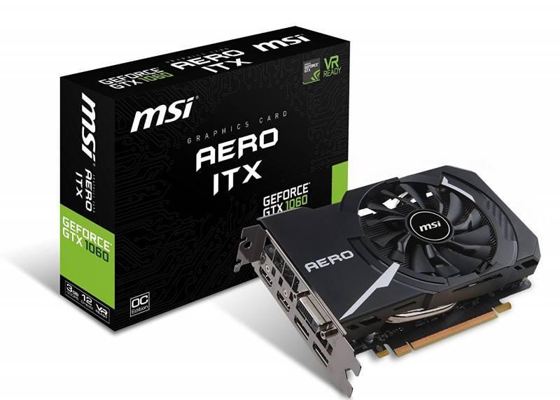 Видеокарта MSI GTX 1060 AERO ITX 3G OC 3072 МБ - фото 1