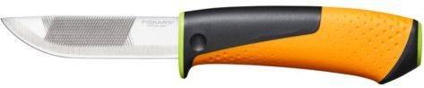 Нож садовый Fiskars 1023619 черный/оранжевый - фото 1