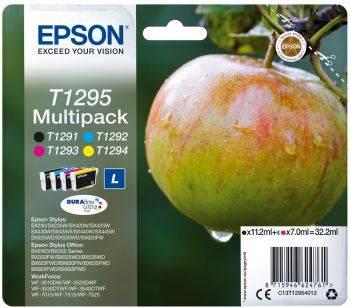 Набор картриджей Epson T1295 4цв. (C13T12954012) - фото 1