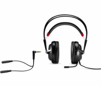 Наушники с микрофоном HP OMEN SteelSeries черный / красный