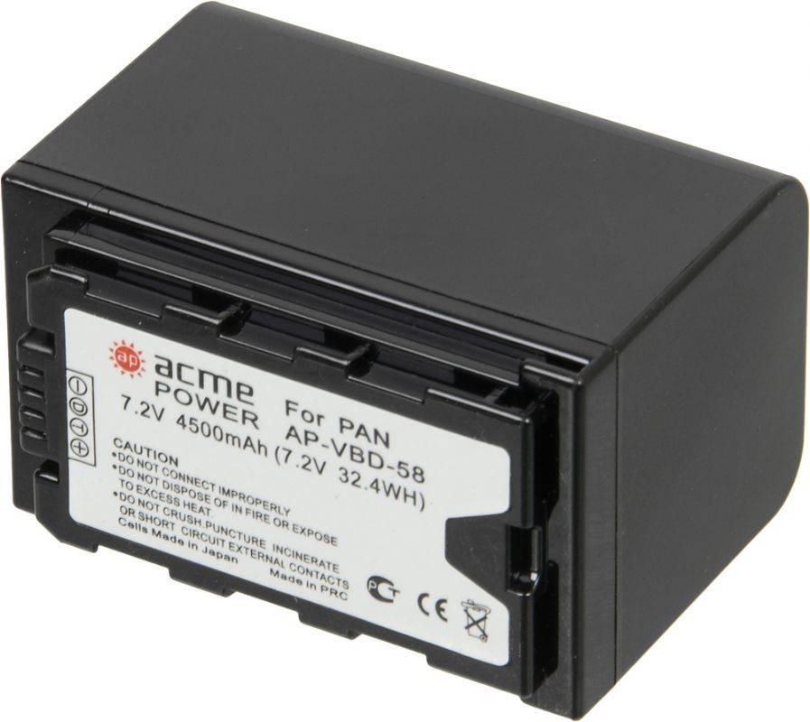 Аккумулятор для компактных камер AcmePower AP-VBD-58 - фото 3