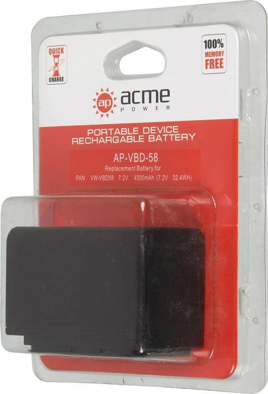Аккумулятор для компактных камер AcmePower AP-VBD-58 - фото 5