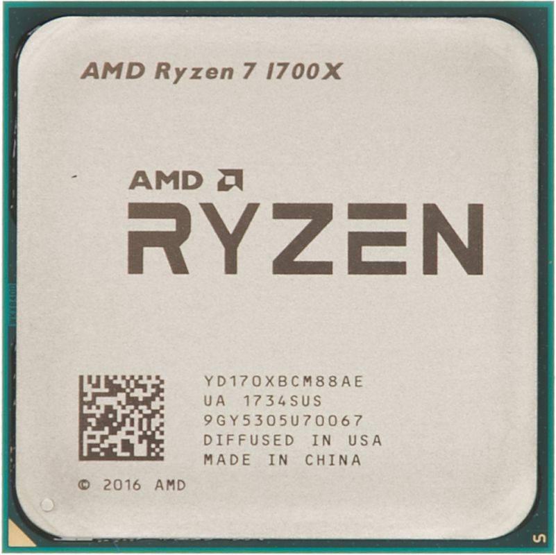 Процессор AMD Ryzen 7 1700X SocketAM4 BOX без кулера (YD170XBCAEWOF) - фото 1