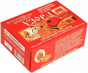Прибор для выжигания Трансвит гильошированный УЗОР-1 по дереву и ткани картон.кор.