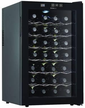 Винный шкаф Shivaki SHW-28V1 черный / стекло