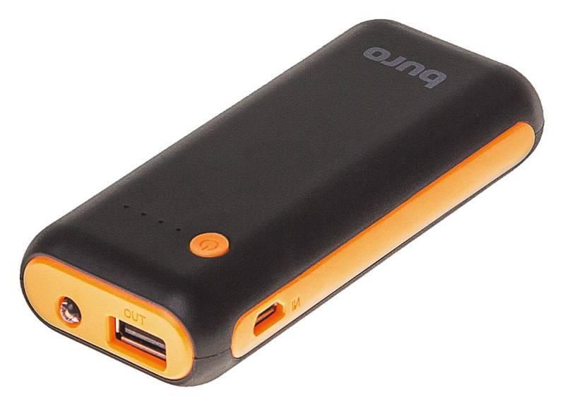 Мобильный аккумулятор BURO RC-5000BO черный - фото 5