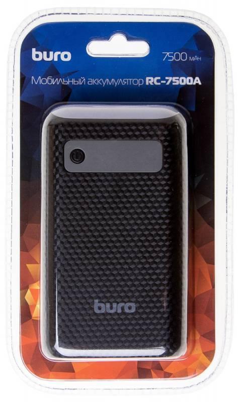 Мобильный аккумулятор BURO RC-7500A-B черный - фото 8