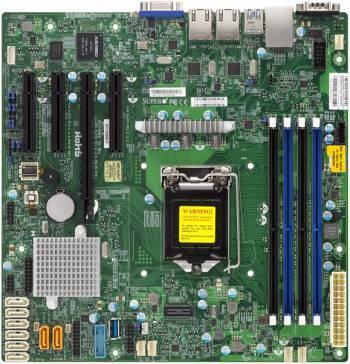 Серверная материнская плата Soc-1151 SuperMicro MBD-X11SSM-F-B mATX bulk