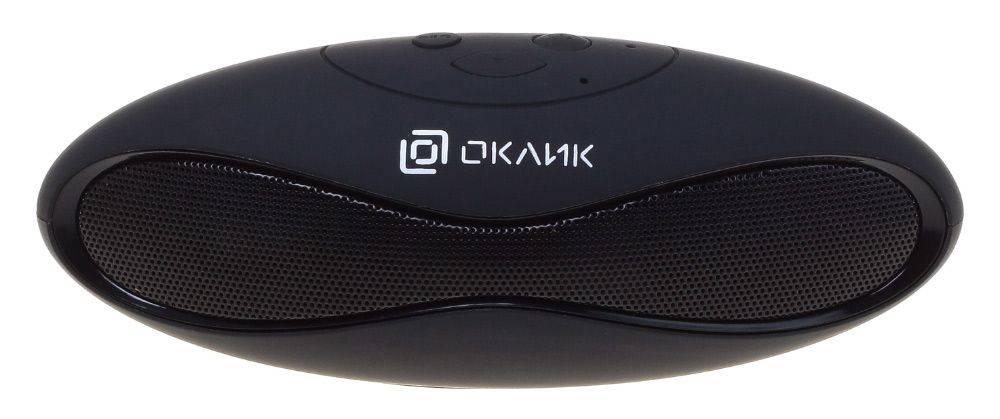 Колонка портативная Oklick OK-10 черный - фото 1