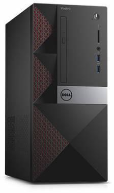 ПК Dell Vostro 3667 черный, процессор Intel Core i3 6100, память 4Gb, жесткий диск 1Tb 7.2k, видеокарта NVIDIA GeForce GT710 2Gb, CR, minitower, Windows 10 Home, GbitEth, WiFi, в комплекте клавиатура+ мышь (3667-8121)