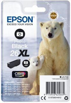 Картридж Epson T2631 фото черный (C13T26314012)