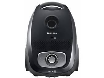 Пылесос Samsung VC24LVNJGBB черный, мощность 2400Вт, уборка: сухая, объем пылесборника 3л, мощность всасывания 440Вт, регулировка мощности на корпусе, длина шнура 7м