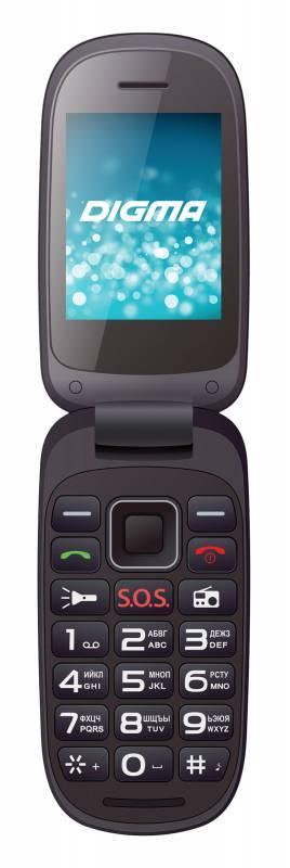 Мобильный телефон Digma A200 2G Linx черный - фото 1