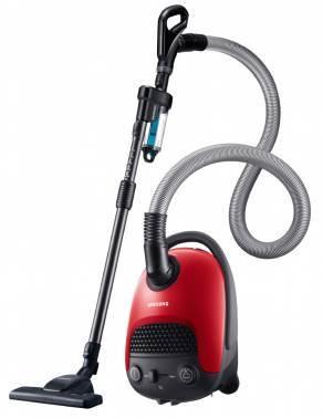 Пылесос Samsung VC20F30WNGR красный, мощность 2000Вт, уборка: сухая, объем пылесборника 3л, мощность всасывания 420Вт, регулировка мощности на корпусе, длина шнура 7м