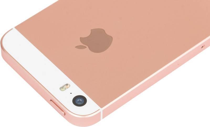 Смартфон Apple iPhone SE MP852RU/A 32ГБ розовое золото - фото 5