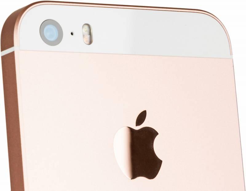 Смартфон Apple iPhone SE MP852RU/A 32ГБ розовое золото - фото 9