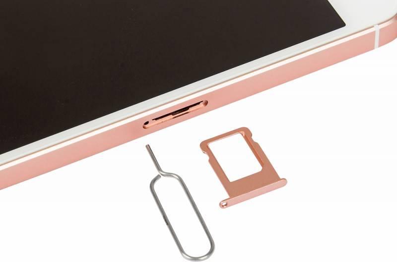 Смартфон Apple iPhone SE MP852RU/A 32ГБ розовое золото - фото 10