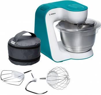 Кухонный комбайн Bosch MUM54D00 белый / бирюзовый