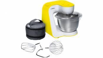 Кухонный комбайн Bosch MUM54Y00 белый / желтый