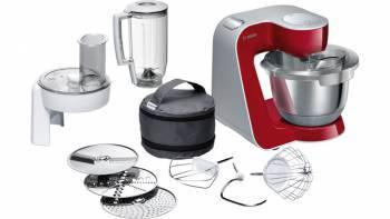 Кухонный комбайн Bosch MUM58720 красный/серебристый