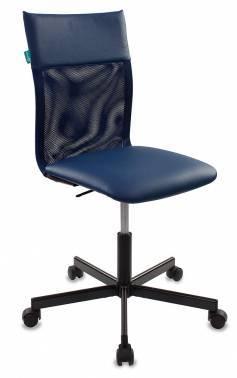 Кресло Бюрократ CH-1399/BLUE спинка сетка, цвет обивки: синий, искусственная кожа, крестовина металлическая
