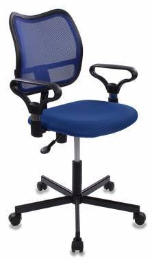 Кресло Бюрократ CH-799M/BL/TW-10 спинка сетка, цвет обивки: синий TW-10, ткань, крестовина металлическая