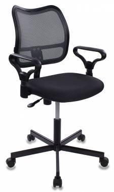 Кресло Бюрократ CH-799M/DG/TW-12 спинка сетка, цвет обивки: серый TW-12, ткань, крестовина металлическая