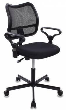 Кресло Бюрократ CH-799M/TW-11 спинка сетка, цвет обивки: черный TW-11, ткань, крестовина металлическая
