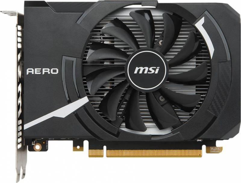 Видеокарта MSI GTX 1050 TI AERO ITX 4G OC 4096 МБ - фото 1