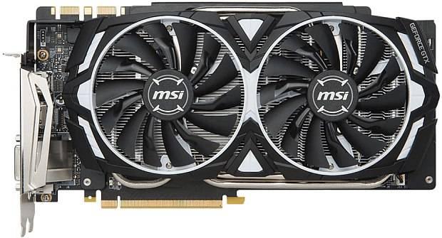 Видеокарта MSI GTX 1080 TI ARMOR 11G OC 11264 МБ - фото 2