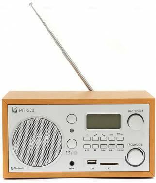 Радиоприемник Сигнал БЗРП РП-320 дерево светлое/серебристый (19682)
