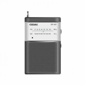 Радиоприемник Сигнал РП-107 черный/серебристый (17829)
