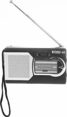 Радиоприемник Сигнал Эфир-09 черный / серебристый
