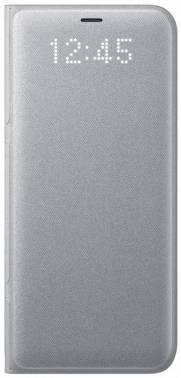 Чехол Samsung LED View Cover, для Samsung Galaxy S8+, серебристый (EF-NG955PSEGRU)