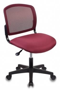 Кресло Бюрократ CH-1296 темно-бордовый/бордовый (CH-1296NX/CHERRY)