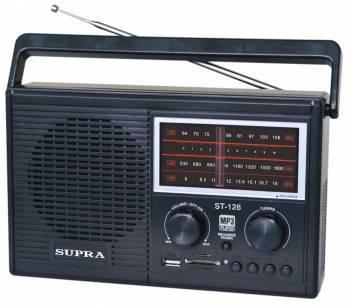 Радиоприемник Supra ST-126 черный