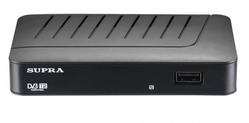 Ресивер DVB-T2 Supra SDT-77 черный - фото 1