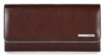 Кошелек женский Piquadro Blue Square коричневый, кожа натуральная (PD3889B2/MO)
