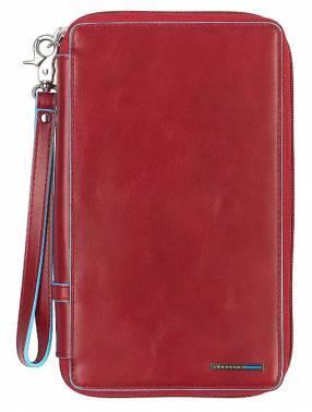 Мультипортмоне Piquadro Blue Square красный, кожа натуральная (PP3246B2/R)