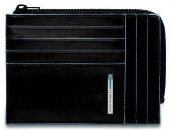 Чехол для кредитных карт Piquadro Blue Square PU1243B2R / N черный натур.кожа