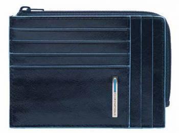 Чехол для кредитных карт Piquadro Blue Square PU1243B2R/BLU2 синий натур.кожа