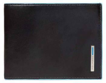 Кошелек мужской Piquadro Blue Square черный, кожа натуральная (PU257B2R/N)