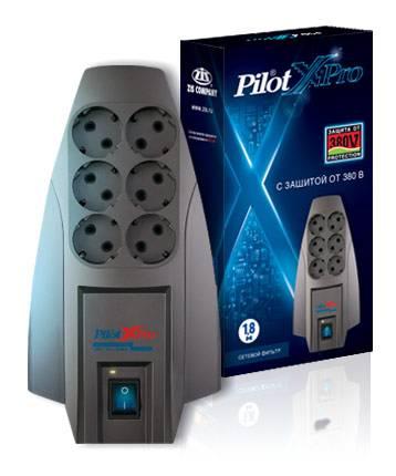 Сетевой фильтр Pilot X-Pro 1.8м серый - фото 1