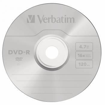 Диск DVD-R Verbatim 4.7Gb 16x (5шт) (43519)