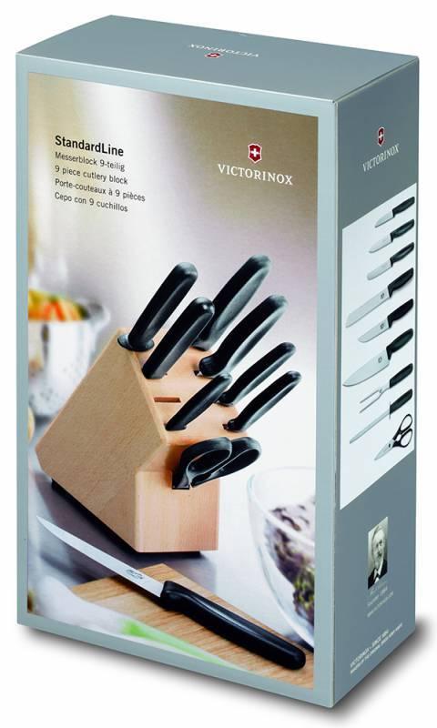 Набор кухонных ножей Victorinox Standart черный (5.1193.9) - фото 3