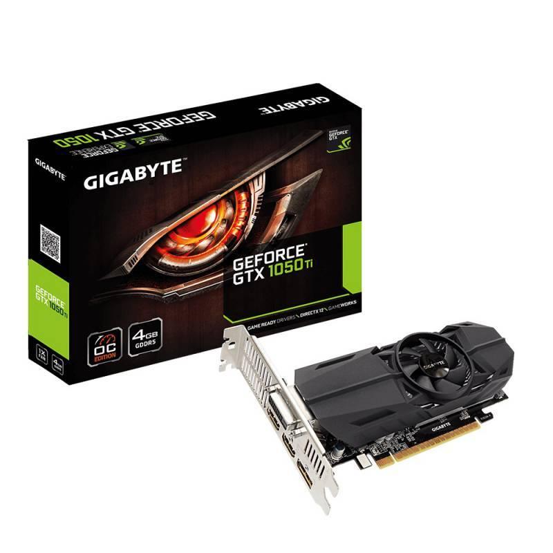 Видеокарта Gigabyte GeForce GTX 1050TI D5 4GL OC 4096 МБ (GV-N105TOC-4GL) - фото 1